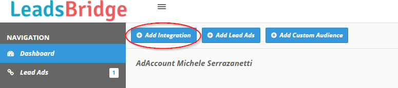 LeadsBridge add integration