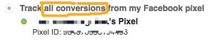 pixel all conversions