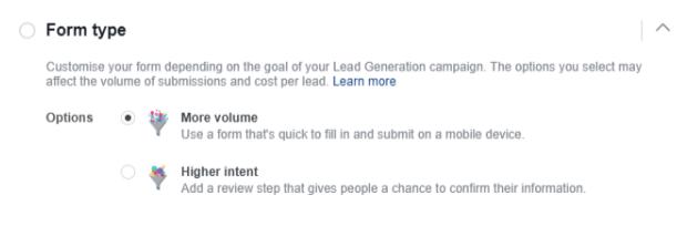facebook lead asd