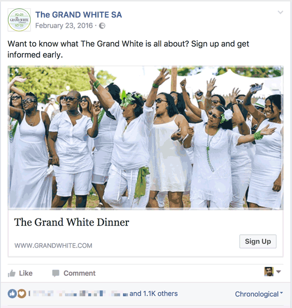Facebook Lead Ads example 1
