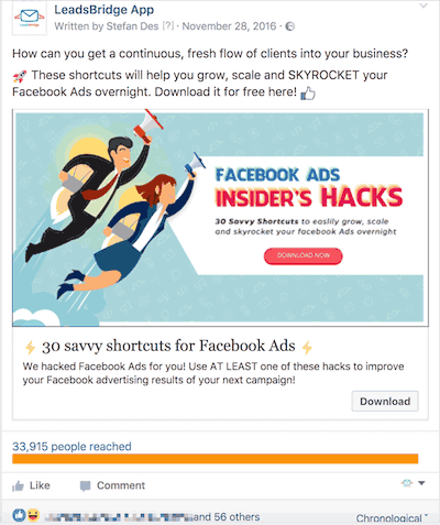 Facebook Lead Ads example 5