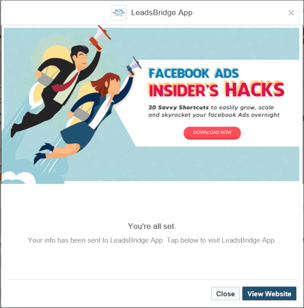 Facebook Lead Ads: Finally Meet The New Thank You Screen Of Your