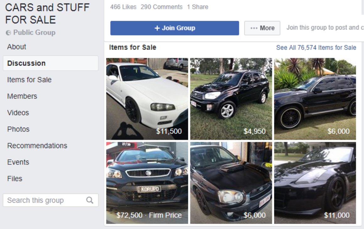Lead generation for car dealers on Facebook groups
