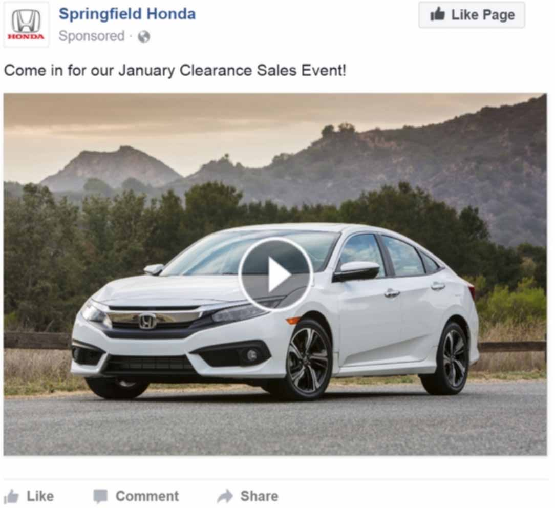 how to sell cars using Facebook videos