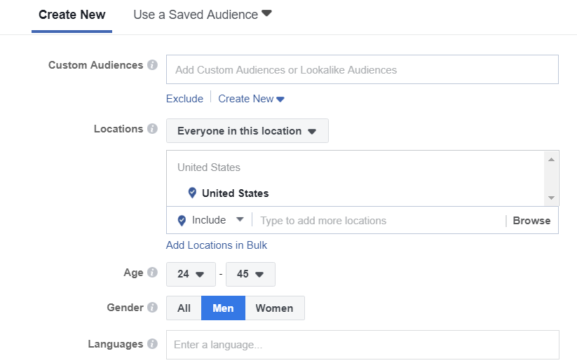 Choose the right audience for real estate facebook ads that work target audience