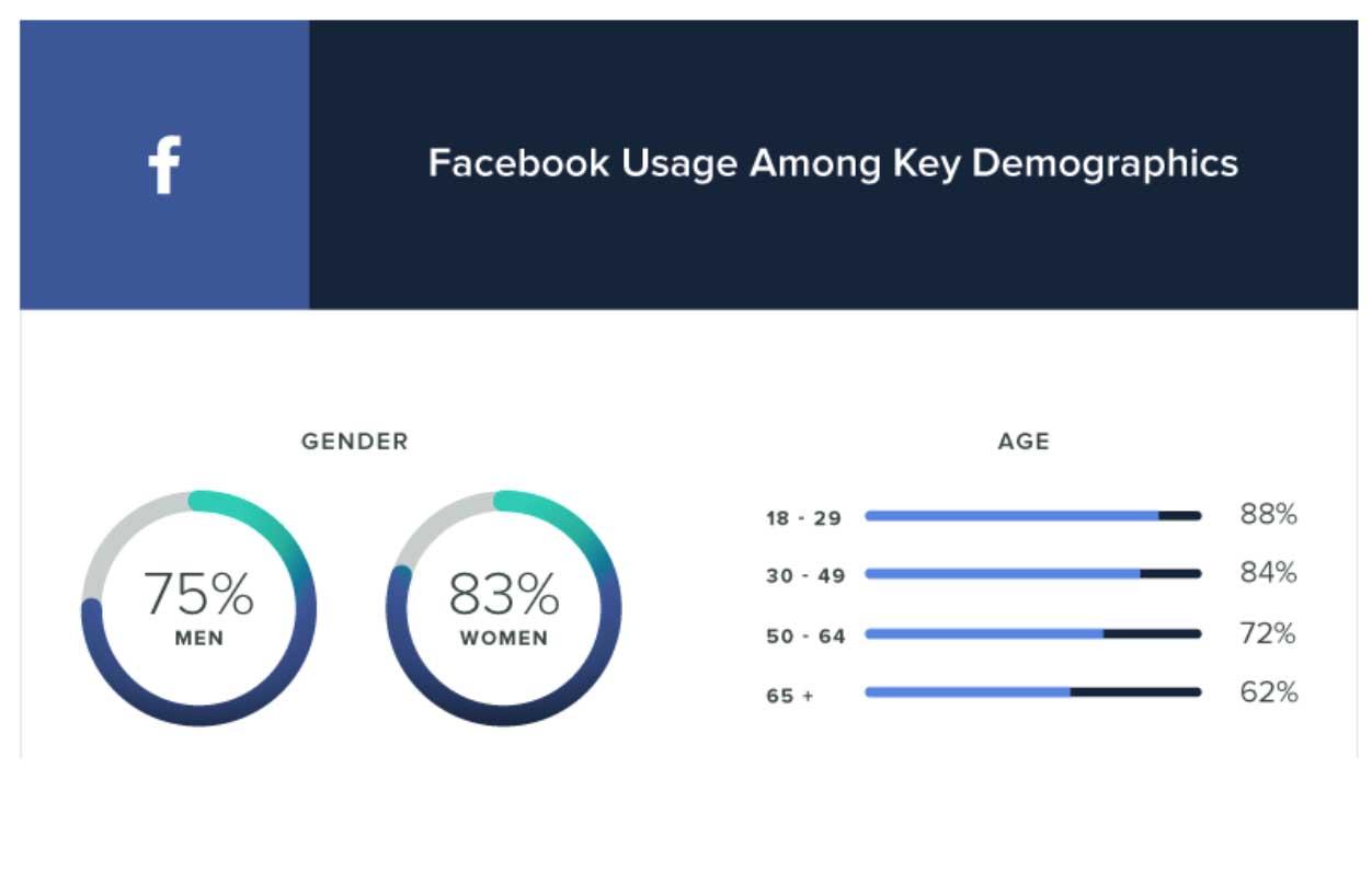 Facebook usage among key demographics