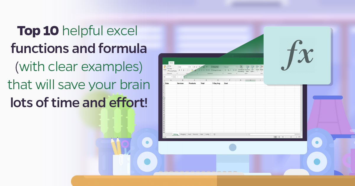 top 10 helpful excel functions and formula that will save your brain