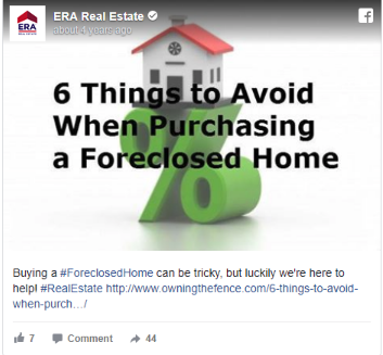 Facebook post idea for your real estate agent