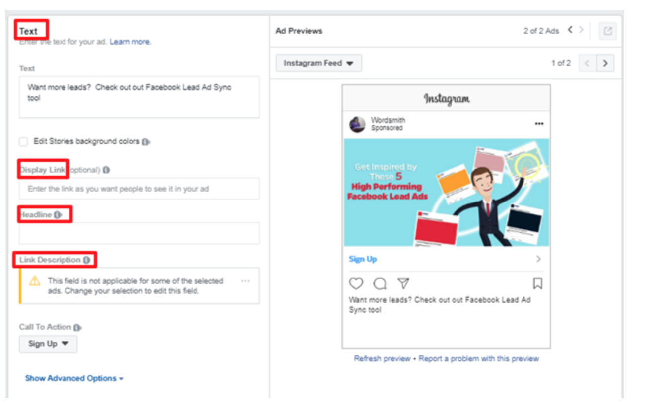 Instagram stories lead ads