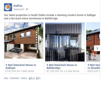 real estate Facebook ads examples