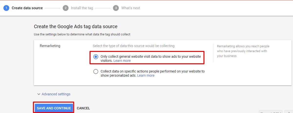 Remarketing annunci Google