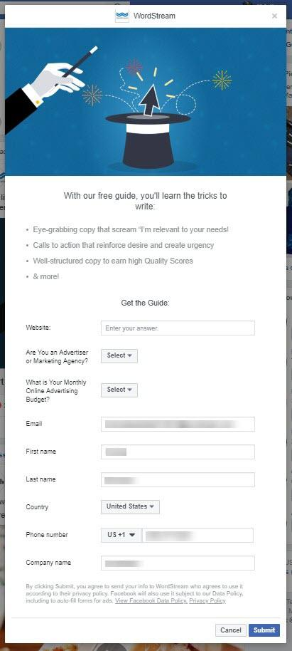 How to download facebook lead ads