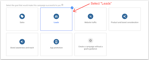Google lead ads form