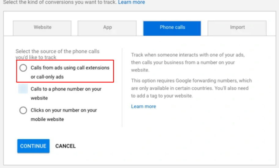 6. call tracking