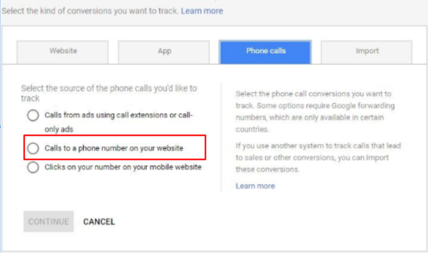 7. call tracking