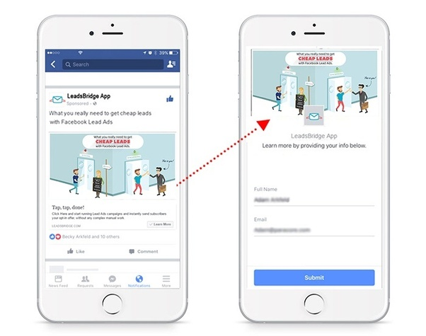 Facebook lead ads follow up