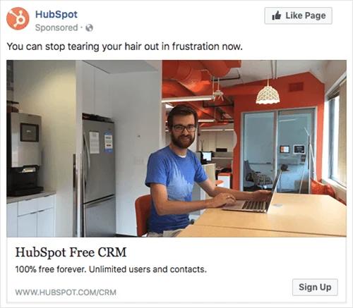 hubspot-facebook-ad-example