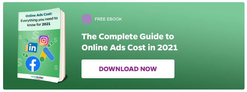Download now the complete guide to Online Ads Cost in 2021