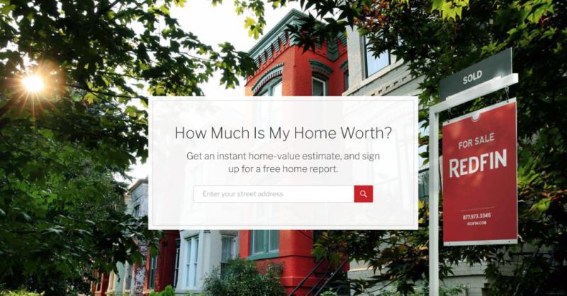Home valuation landpage