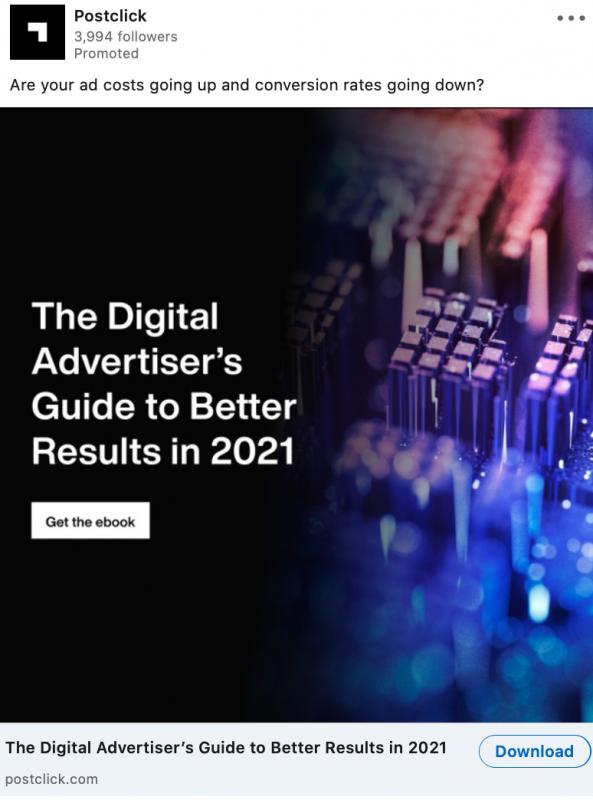 LinkedIn lead generation ad for digital marketing agencies