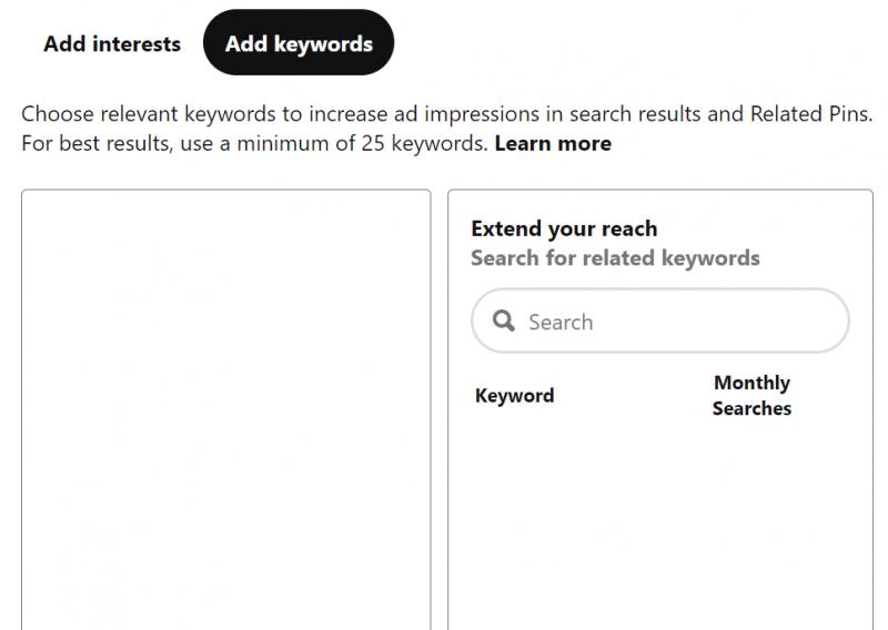 keyword targeting real